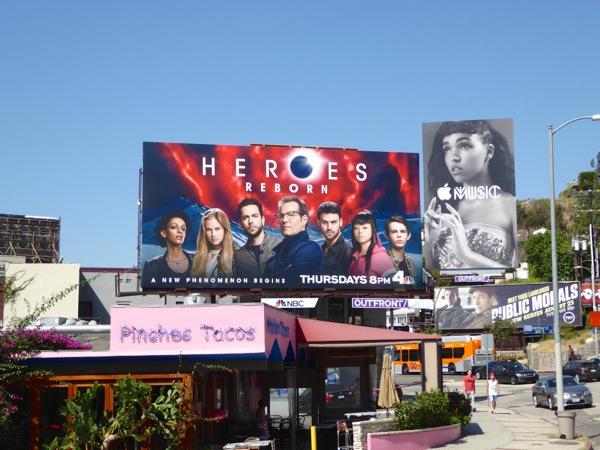 Heroes Reborn miniseries billboard