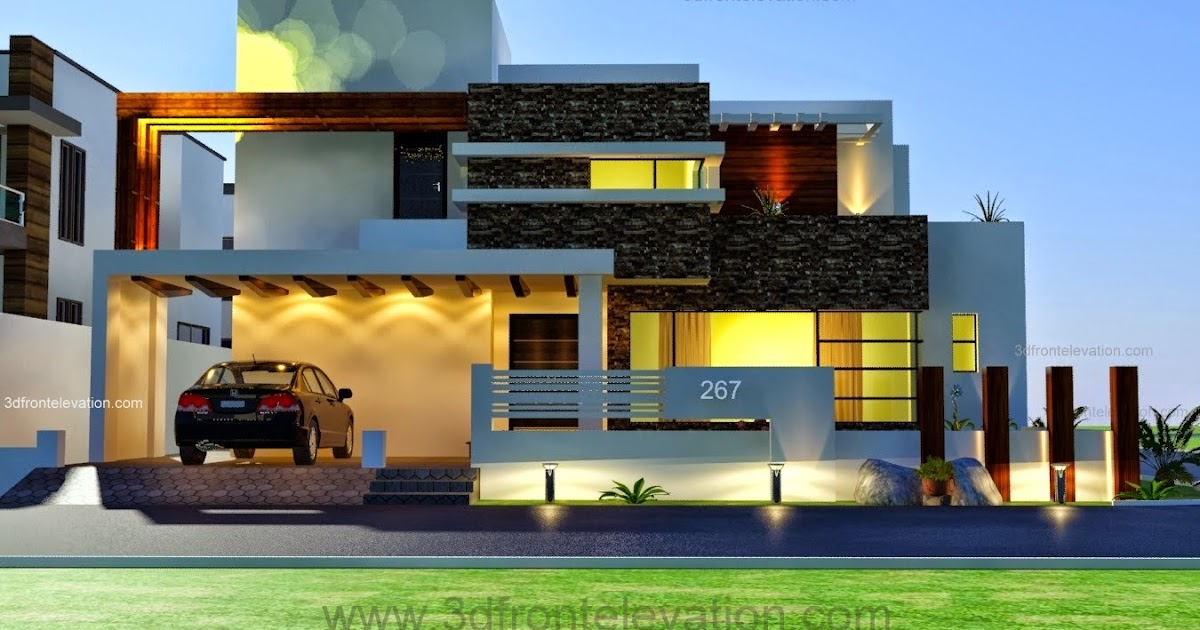 3D Front Elevation.com: 1 Kanal Modern Contemporary Design ...