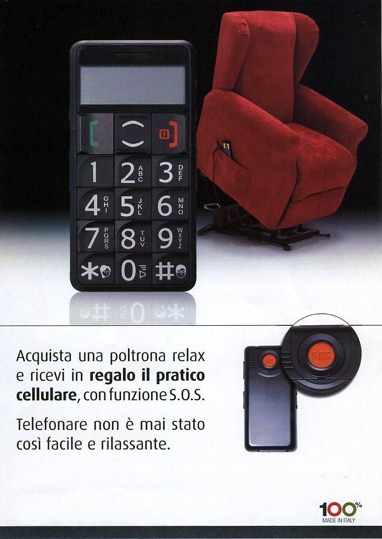 Arredi spatafora poltrona relax lift con cellulare for Cerco poltrona in regalo