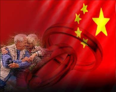 صينيان يحتفلان بعيد زواجهما التسعين - الصين - زوجان مسنان - china