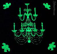 cuadro de lampara de araña en 3D, con sorpresa-