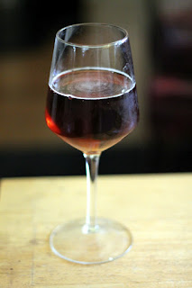 A glass of Alex's sour blend.