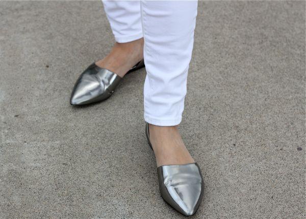 Vince, flats, silver, shoes