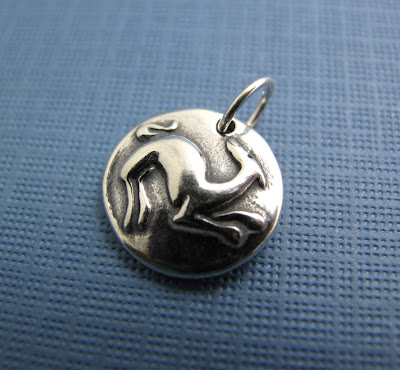 beth hemmila hint jewelry sterling silver charm dog greyhound celtic