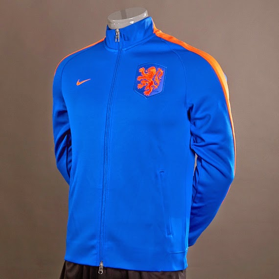 Nike Holland N98 Authentic Track Jacket Blue - Orange