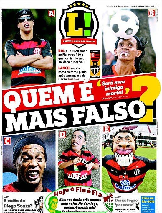 Ronaldinho es el centro de las burlas en Flamengo