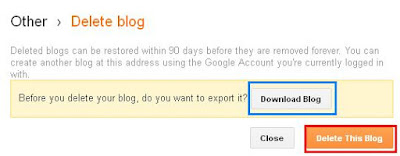How to delete a Blog - BloggingFunda