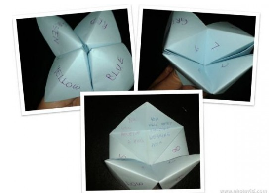 instructions to make a fortune teller