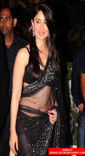 Kareena Kapoorin black saree
