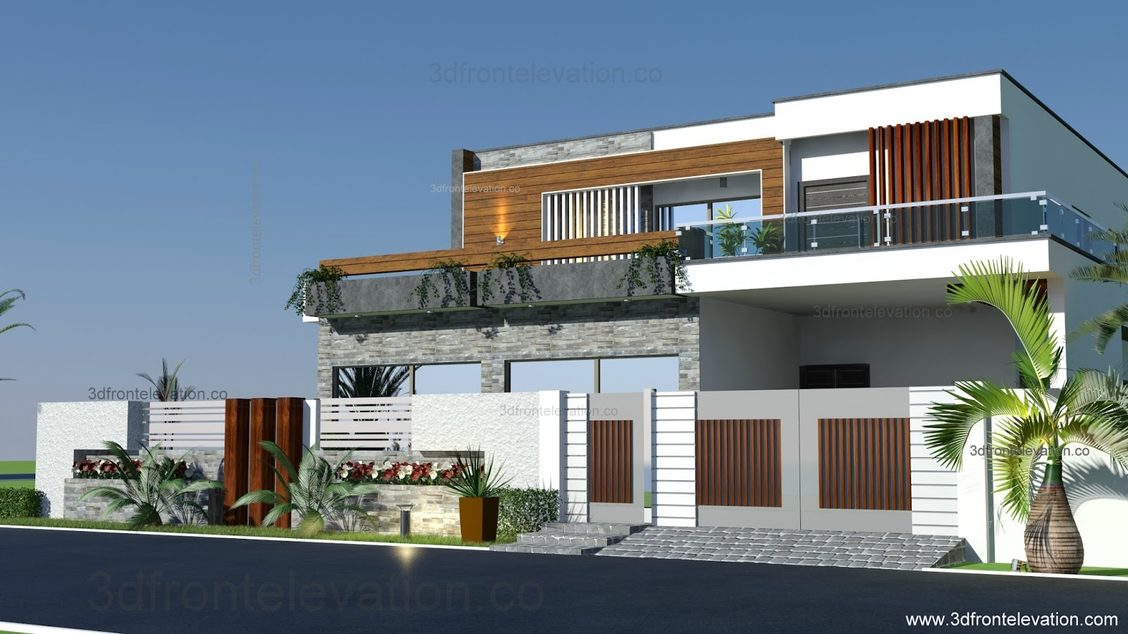 3d front home remodeling and renovation of 1 kanal - D home design front elevation ...