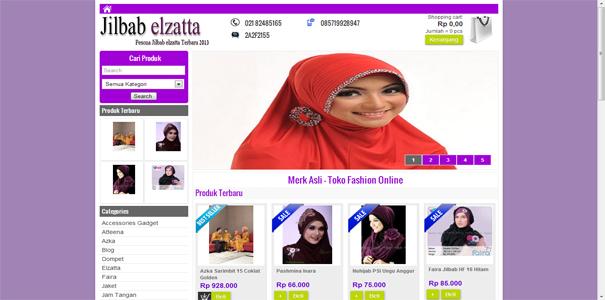 busana muslim, polisi online