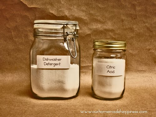 Our Homemade Happiness Homemade Dishwasher Detergent For