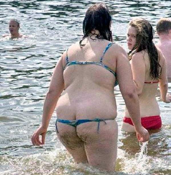 Girls bikini chubby thong