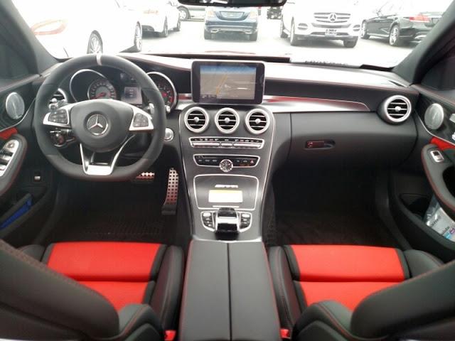 w205 c63 amg red interior designo