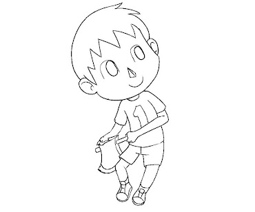 #1 Villager Coloring Page