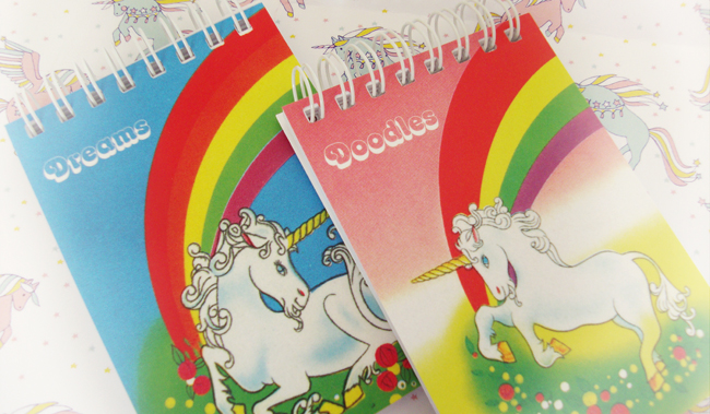 unicorn notebook, Iucky dip club, valley of the unicorns