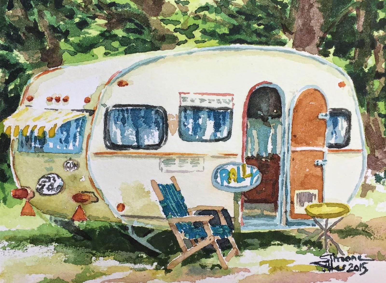 Simone Ritter Art German 1972 Tabbert Wohnwagen