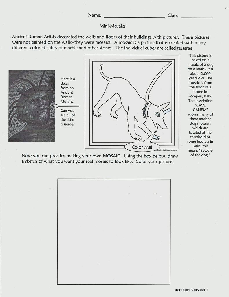 Uncategorized Ancient Rome Worksheets no corner suns ancient roman mini mosaics worksheet introduces primary students to as an art form and the of rome this is a great primer for some construction p
