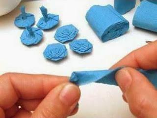 Jenis Kerajinan Tangan Dari Kertas, Bola Bunga Kertas Krep 4