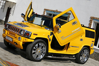 tuning extreme - hummer - h2 - yellow hummer tuning - trucks