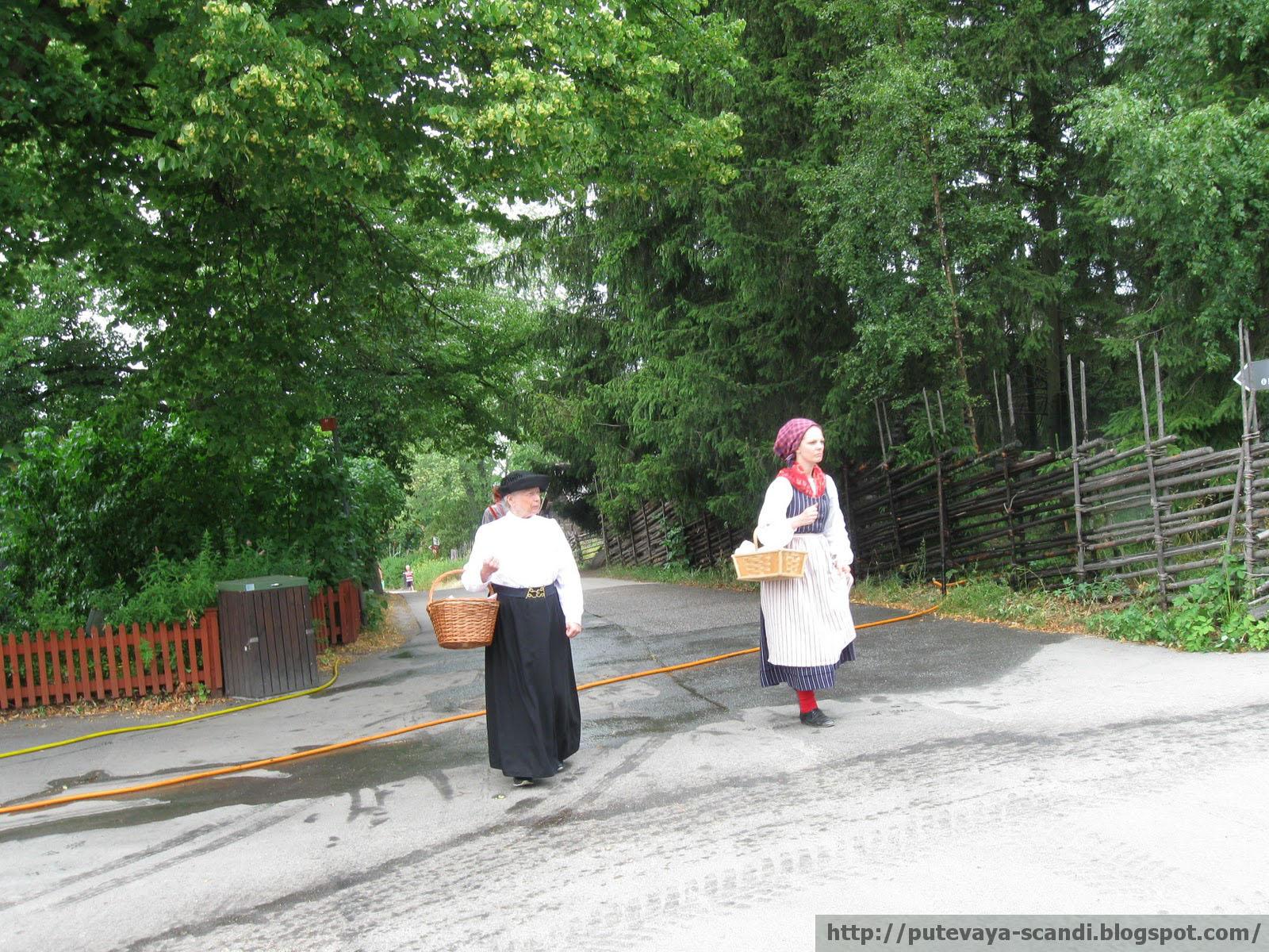 дамы в шведских традиционных костюмах