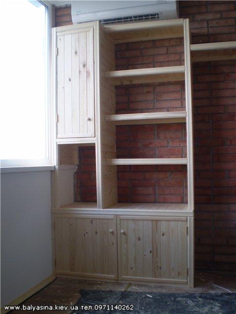 Балясина: шкаф на балкон из вагонки..