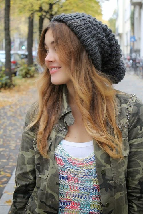 2014 Yeni Moda Bayan Örgü Bere Modelleri