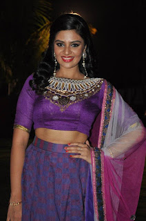 Srimukhi Pictures in Half Saree at Dhakshmi Talupu Tadithey Audio Launch ~ Celebs Next