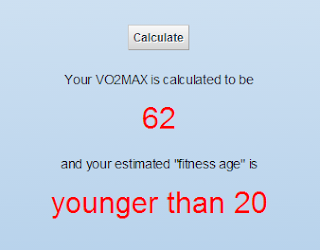 Fitness age and V02 max