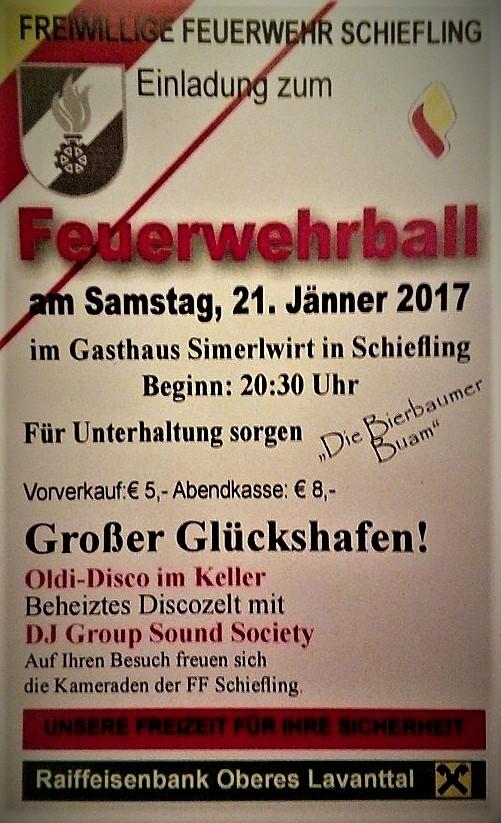 BALL DER FF SCHIEFLING