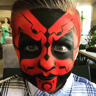 Face painting by ARTovator in Orange County.