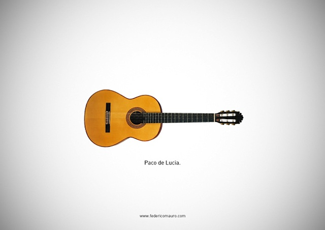 Famous Guitars Illustrations