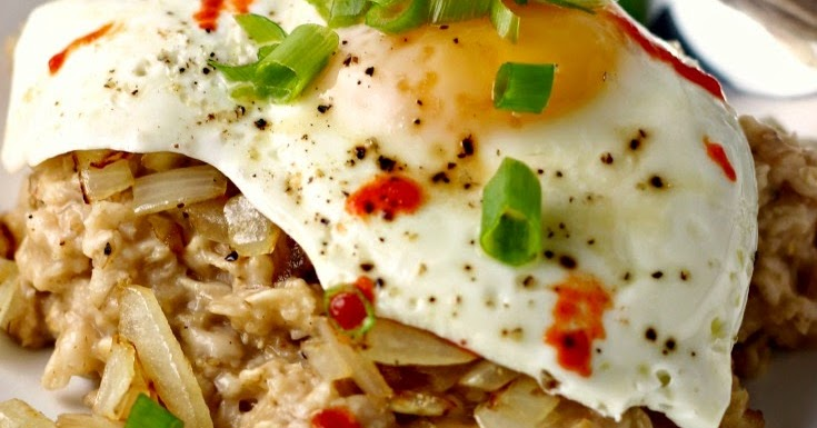 Savory Egg-Topped Oatmeal