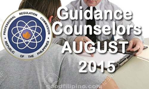 August 2015 Guidance Counselors Board Exam Results - PRC List of Passers (August 2015)