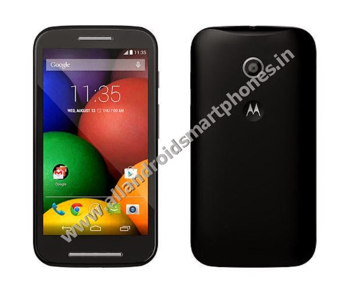 Motorola Moto E Android KitKat 3G Dual Sim Smartphone Black Color Front Back Photos Images Review