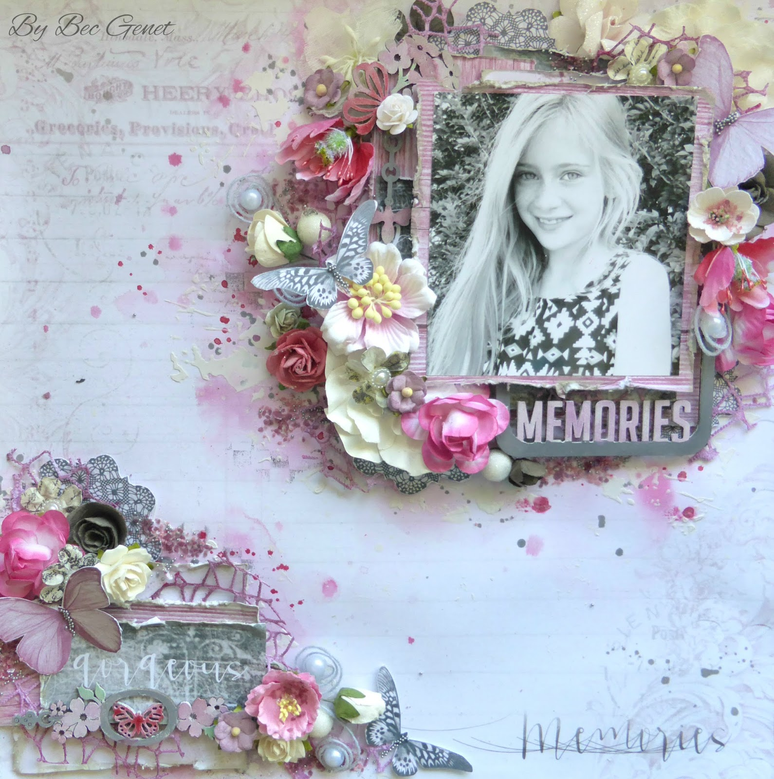 my scrappin spot  gorgeous memories