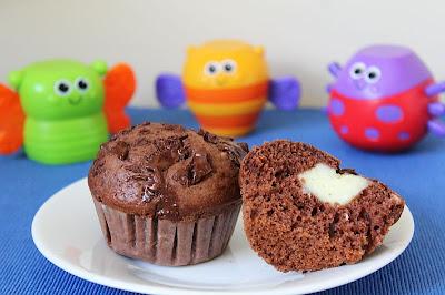 Muffinki czekoladowe z budyniem