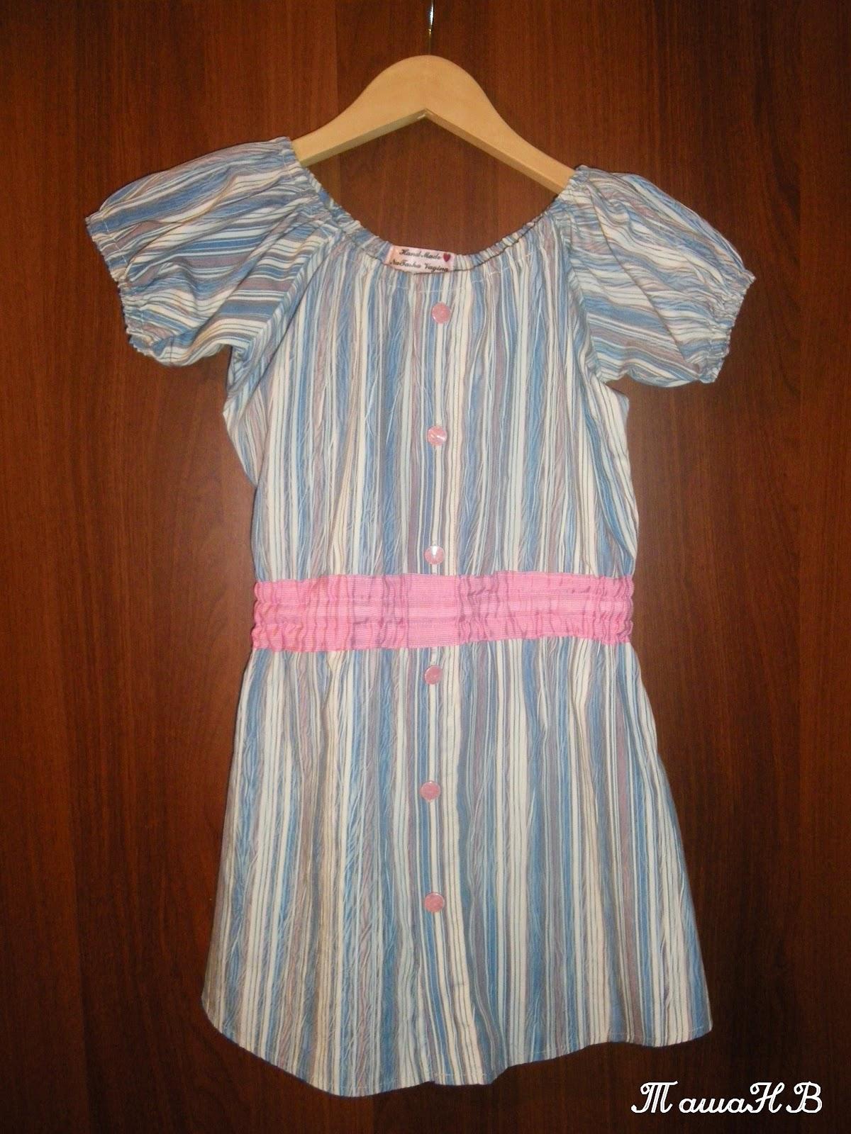 Детское платье из мужской рубашки 32