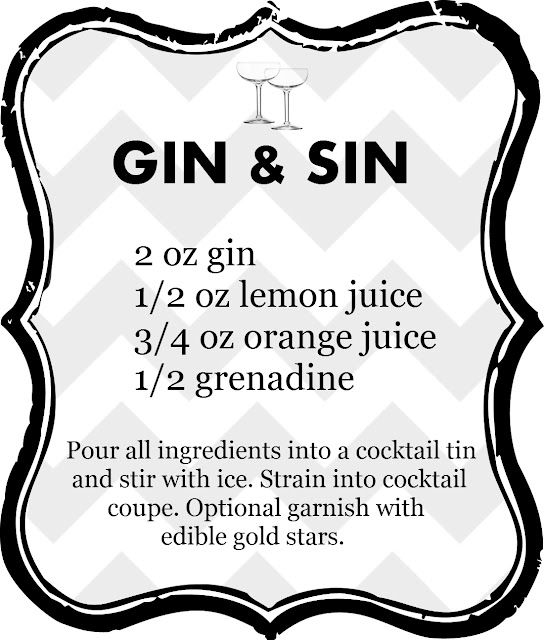 Good Cocktails - Gin And Sin Mixed Drink Recipe