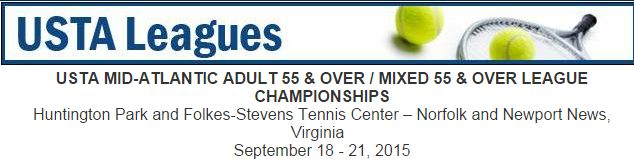 USTA MID-ATLANTIC ADULT 55 & OVER / MIXED 55 & OVER LEAGUE CHAMPIONSHIPS