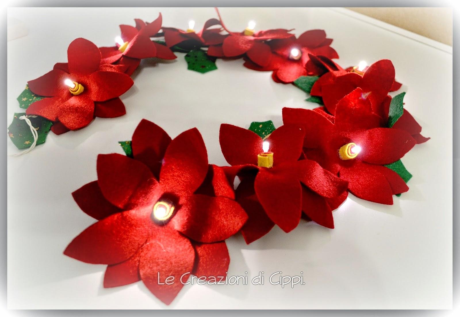 Le creazioni di cippi ghirlanda stelle di natale rosse in for Creazioni di natale fatte a mano
