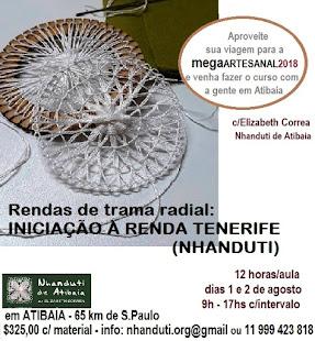 Atelier Nhanduti: Curso Iniciação Renda Tenerife