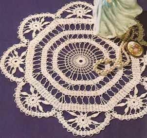 """Centro de mesa """"Atrio"""" a Crochet"""