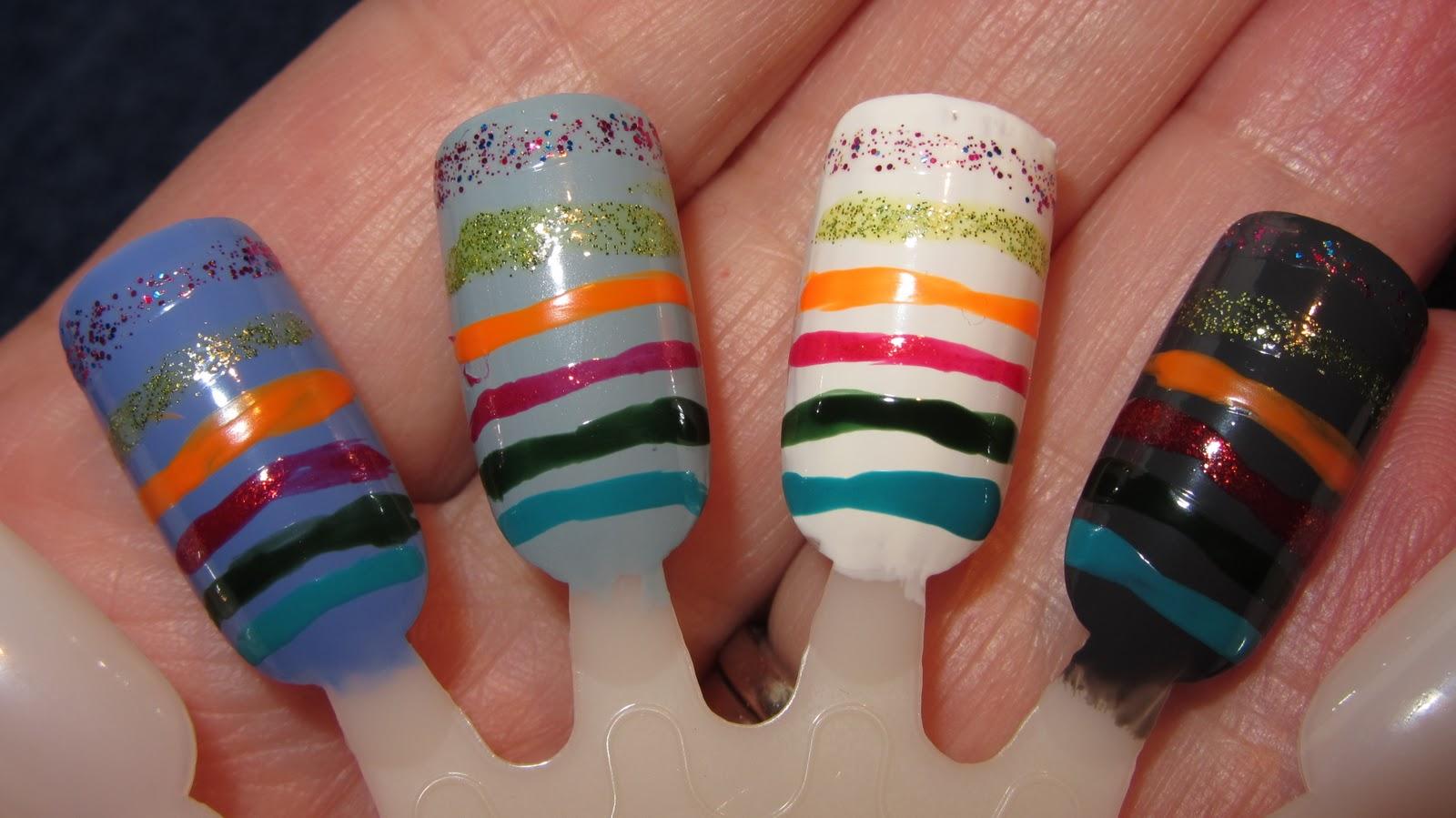 Art Deco nail art stripers from L.A. Colors – Art Deco nail art ...