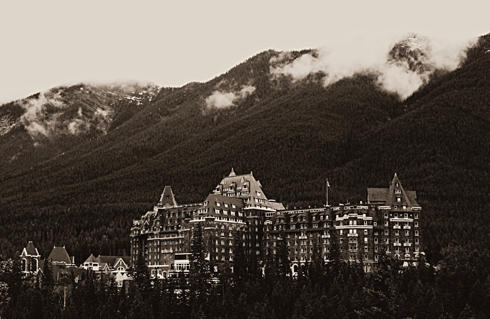 banff springs hotel alberta rocky mountains travel photography