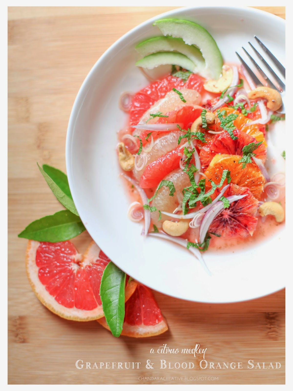 Grapefruit and Blood Orange Salad | via Chandara Creative