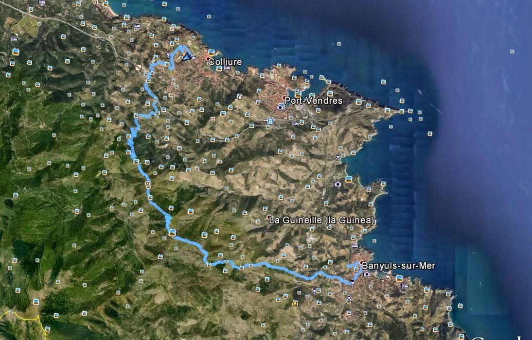 Recorregut: Banyuls-sur-mer-Tour de Madeloc-Collioure