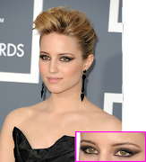Dianna Agron's makeup in the Grammys