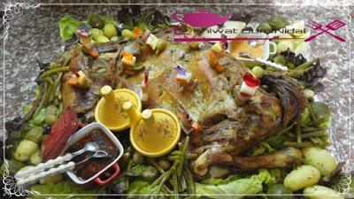 لحم الغنمي مشري و مقدم مع الخضر مبخرة 7.jpg