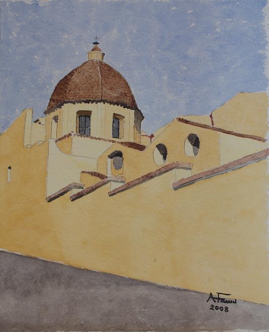 Chiesa di San Mauro - acquerello